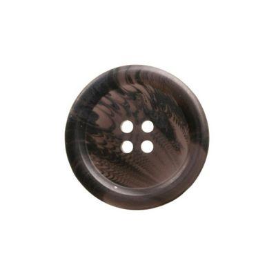 Hemline Four Hole Dark Brown Buttons 20mm 5pk