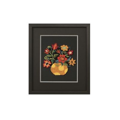 Dimensions Floral on Black - Punch Needle Embroidery Kit