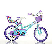 "Frozen 16"" Wheel New 2017 Decal Design Kids Bike w/Stabilisers"