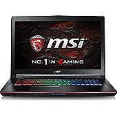 """MSI GE72VR Core i7 8GB 1TB 128GB SSD nVidia GeForce GTX 1060 6GB Win 10 17.3"""" Black Gaming Laptop"""