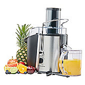Andrew James Juicer for Fruit and Vegetables in Chrome - 850 Watts