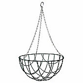 1 x 12-inch Green Metal Hanging Basket