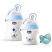 Chicco Natural Feeling Blue Gift Set