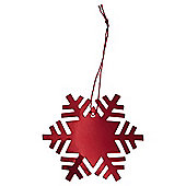 Red Snowflake Christmas Gift Tags, 6 pack