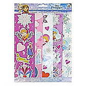 Disney Frozen 5 Sheets Of Stickers Set Featuring Anna, Elsa & Olaf