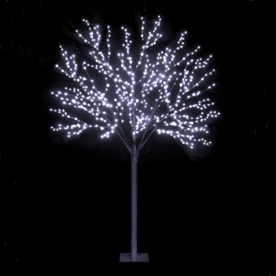 220cm/7ft Dual Size Globe Tree With 500 Ice White LEDs