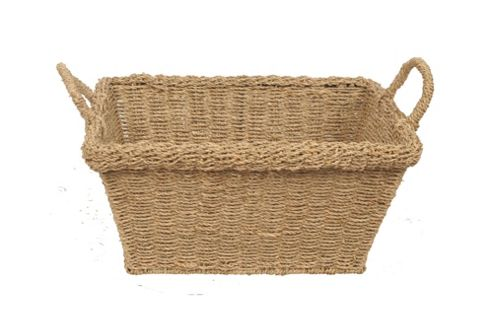 Wicker Valley Seagrass Rectangular Basket