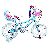 "Tiger Rosie Kids Bike 12"" Wheel Blue/White"