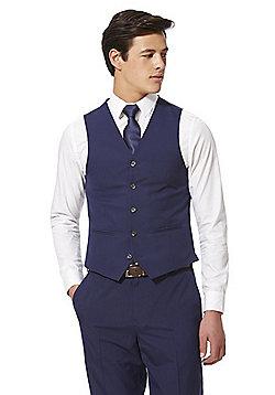 F&F Regular Fit Waistcoat - Blue