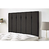 Aspire Furniture Amberley Headboard in Malham Weave Fabric - Grey - Grey