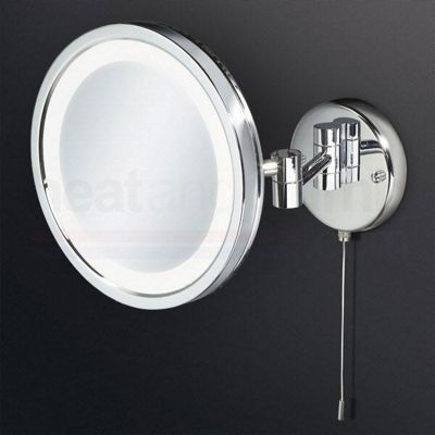 HiB Halo LED Illuminated Magnifying Bathroom Mirror 200mm Diameter