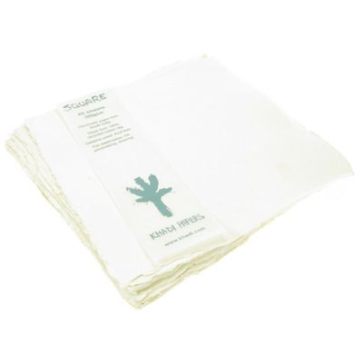 Handmade Paper made from 100% recycled Cotton Rag. Small square 20cm x 20cm, 20 sheets, 320gsm.