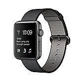Apple Series 2 (38mm) Watch with Space Grey Aluminium Case and Black Woven Nylon Band
