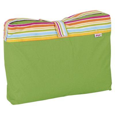 Minene Green Stripe Picnic Blanket  Bag
