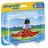Playmobil - Child with Crocodile Raft 6764