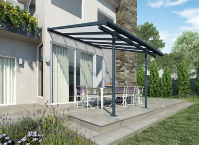 Palram Sierra 3X3.05 Grey Patio Cover