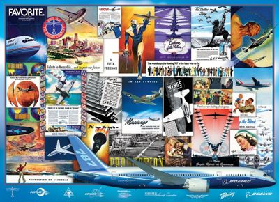 Vintage Boeing Adds - 1000pc Puzzle