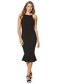 AX Paris Frill Hem Midi Dress - Black