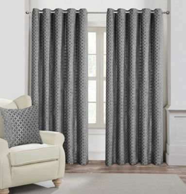 Palermo Fully Lined Eyelet Curtains - 66x72