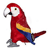 Dowman 35cm Red Parrot Soft Toy