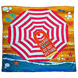 Jumbo Size Do Not Disturb Beach Towel Blanket Accessories