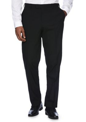 F&F Slim Fit Tuxedo Trousers 40 Waist 33 Leg Black