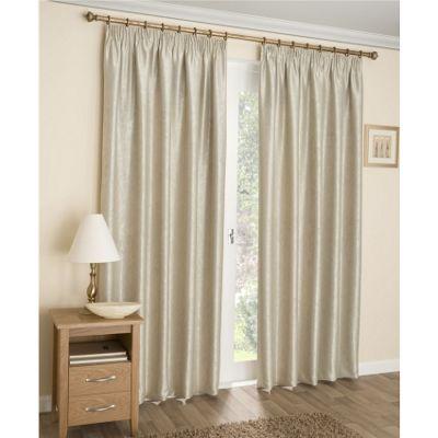 Enhanced Living Apollo Cream Lined Pencil Pleat Curtains - 66x54 Inches (168x137cm)