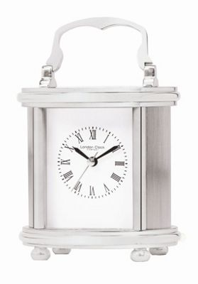 London Clock Company 11cm Solid Brass Carriage Mantle Clock with Roman Dial - Gold