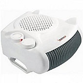 Igenix IG9010 2kW Flat/Upright Fan Heater - White