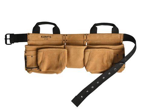 Kunys AP-622A Carpenters Apron 11 Pocket Split Grain Leather