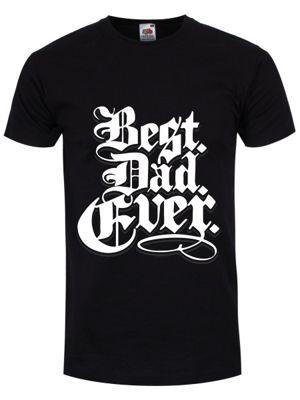 Best Dad Ever Men's T-shirt, Black.