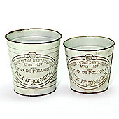 Galvanised Kew Gardens Plant Pots - Small