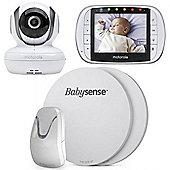Motorola MBP36S Baby Monitor and Babysense 7 Medically Certified Breathing Monitor