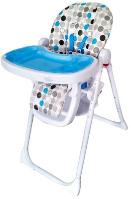 Bebe Style HiLo Burst Multi Function Recline Highchair - Blue