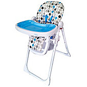 Bebe Style HiLo Burst Multi Function Recline Highchair - Blue