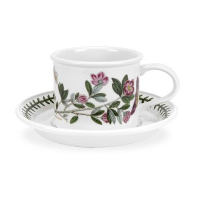 Portmeirion Botanic Garden Tea Cup And Saucer 1 7oz