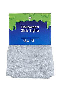 F&F Glitter Halloween Tights - Silver