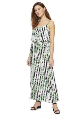 Only Leaf Print Maxi Dress Multi M