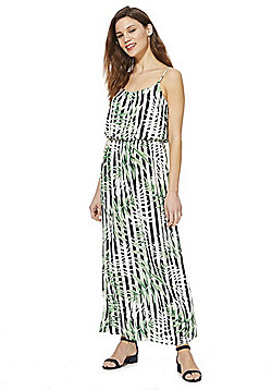 Only Leaf Print Maxi Dress - Multi