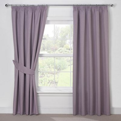 Julian Charles Luna Mauve Blackout Pencil Pleat Curtains - 44x72 Inches (112x183cm)