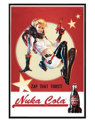 Fallout 4 Gloss Black Framed Nuka Cola Poster