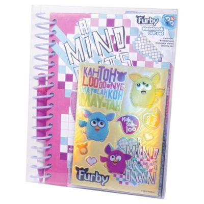 Furby Wiro Notebook And Jumbo Pen And Sticker Sheet