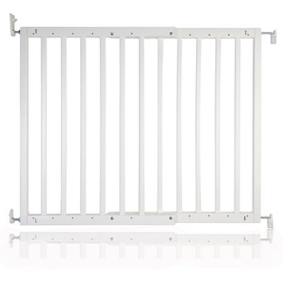 Safetots Chunky Wooden Screw Fit Pet Gate White 63.5cm - 105.5cm