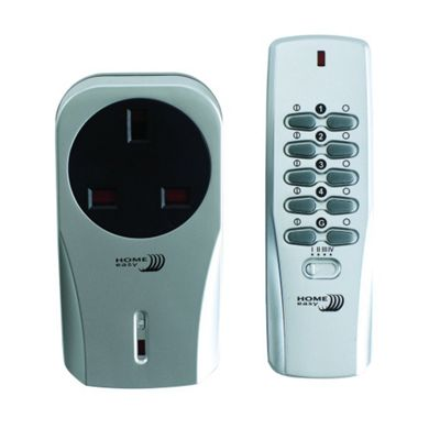 Home Easy Remote Controlled Socket Plug Kit Silver