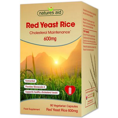 Natures Aid Red Yeast Rice 600mg - 90 Capsules