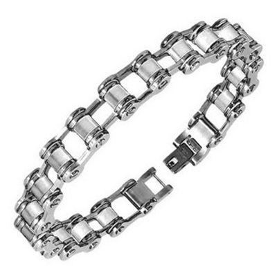 Urban Male Men's Solid Stainless Steel Bike Chain Link Bracelet