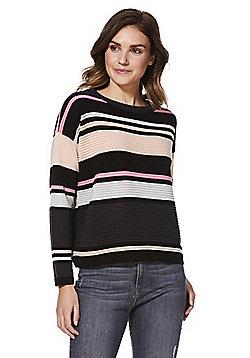 JDY Ottoman Stripe Jumper - Pink & Multi