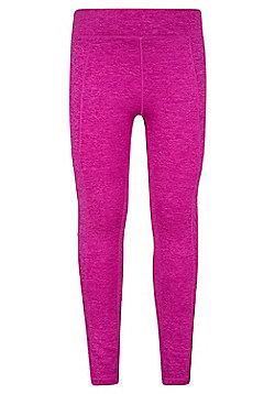 Mountain Warehouse Stretch Girls Cargo Legging with Anti-chafe Flat Seams - Pink