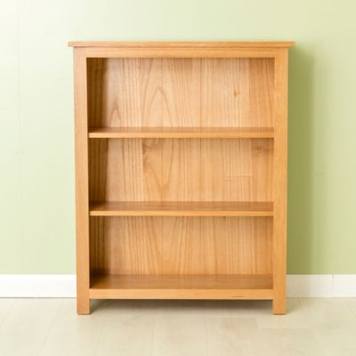 Carne Oak Bookcase - Low Bookcase - Light Oak