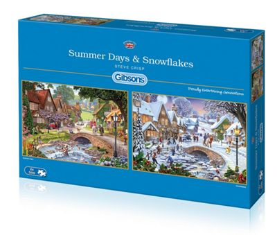 Summer Days and Snowflakes - 2 x 500pc Puzzle